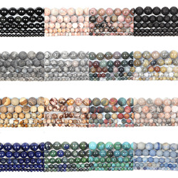 45 Styles Natural Stone Beads Matte Quartz Amazonite Round Loose Frosted Beads For Jewelry Making DIY Charm Bracelets 4-12MM