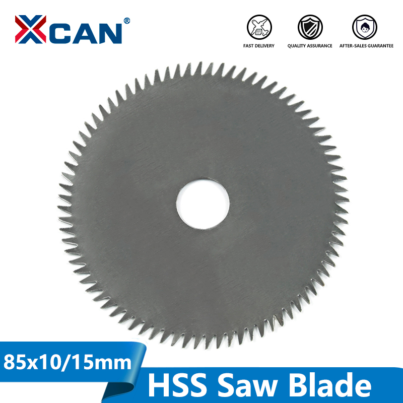 XCAN 1pc 85mm Bore 10/15mm 80Teeth Electric HSS Mini Circular Saw Blade Power Tools Accessories Wood/Metal Cutting Disc