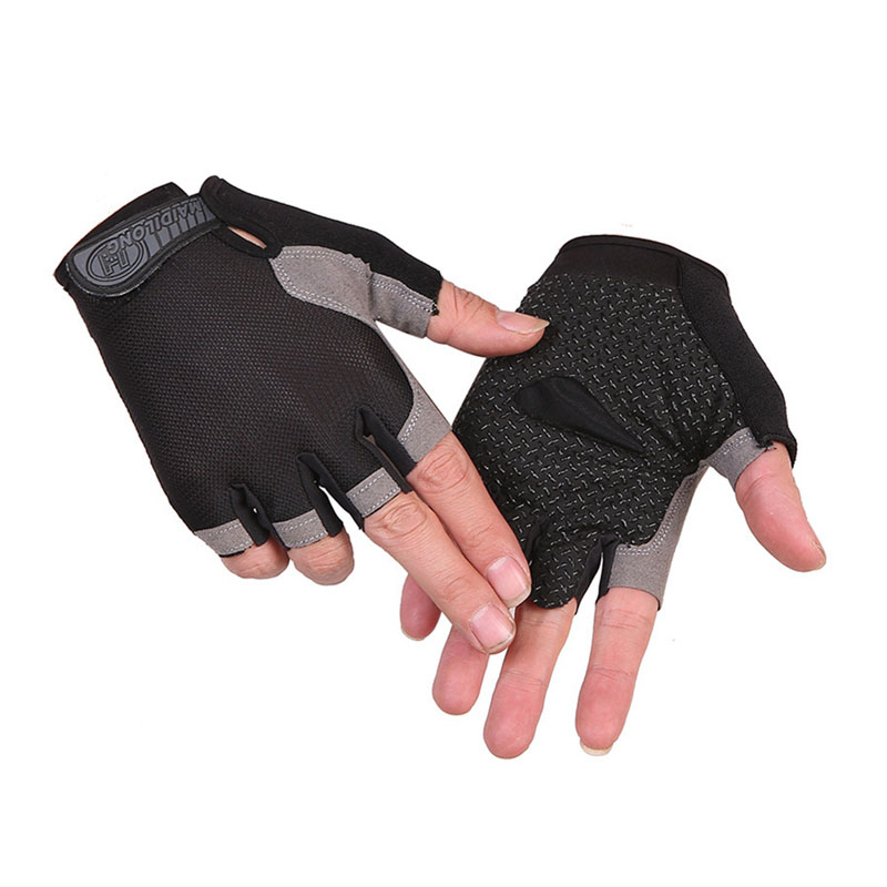 Cycling Gloves Half Finger Anti-slip Weight Lifting Running Fitness Sports  Handwear Accessories For Spring And Summer    SF