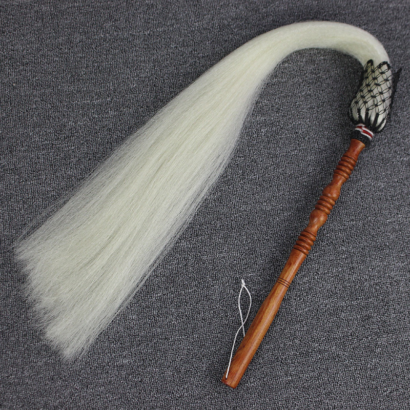 Really Ponytail Tai Chi Whisk Throw You Theatre Prop Dust The Priest Buddhism And Taoism Articles Eunuch Buddha Dust Sweep