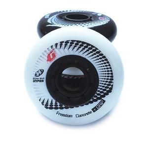 Image 5 - 80ミリメートル84Aローラーインラインスケートハイパー + gスラロームスライドスケート子供のための車輪大人patinsのためのスーツセバpowerslide靴LZ36