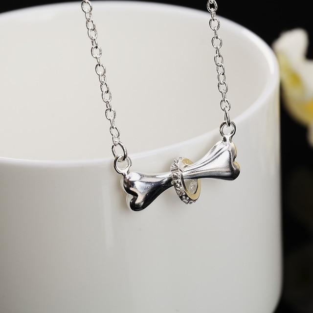 Dog bone Pendant Necklace 4