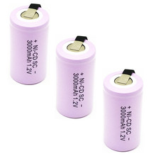 2pcs High quality battery rechargeable battery sub  battery SC battery  1.2 v with tab 3000 mah for electrical tools цена