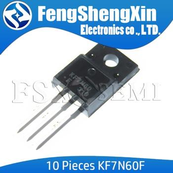 10PCS KF7N60 TO220 KF7N60F TO-220 7N60 TO-220F 600V 7A  N CHANNEL MOS FIELD EFFECT TRANSISTOR - sale item Active Components
