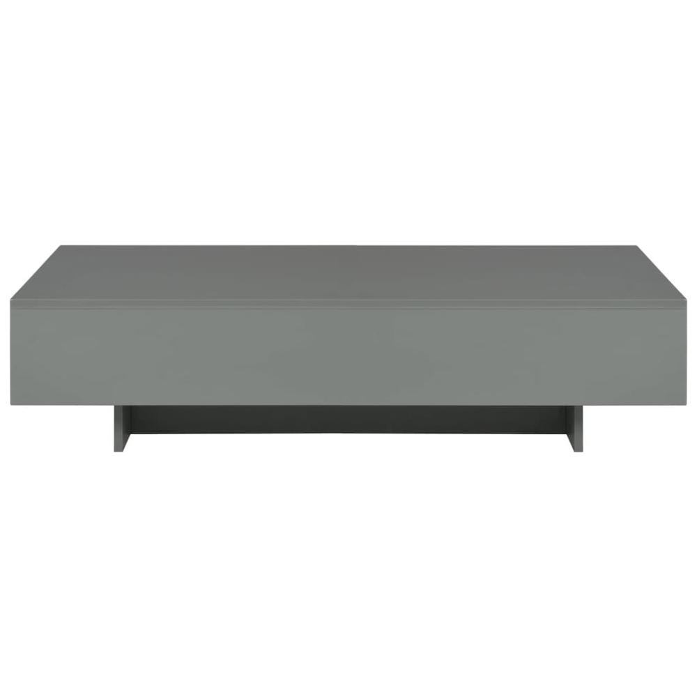 【USA Warehouse】Coffee Table High Gloss Gray 45.3