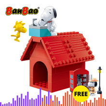 BanBao 7508 Hot IP Snoopy Peanuts & Woodstock House Plastic Building Blocks Toys Educational Models DIY Bricks compatible Brands