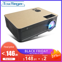 Touyinger M5 proyector LED full HD Video 4000 Lumen 720P Android proyectores para smartphone con Bluetooth 5G WiFi 4K Beamer cine en casa video beam
