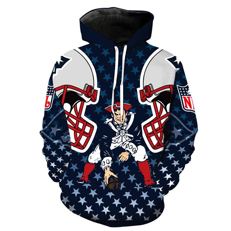 New England Patriots 3D Football Hoodies Streetwear Men/women Autumn Winter Casual Hoodies Sweatshirts Pullovers Tops