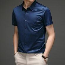 Осенние мужские рубашки модные 2020 шелковые качественные деловые