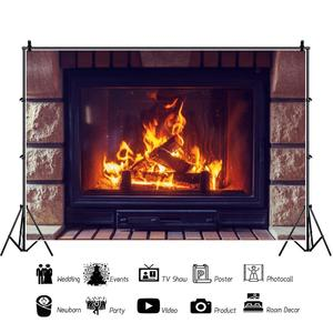 Image 2 - Yeele 벽돌 벽 벽난로 화재 겨울 초상화 아기 사진 배경 사진 스튜디오에 대한 사용자 지정 사진 배경
