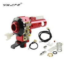 VULPO New CNC Aluminum Hop Up Chamber With LED For Airsoft AEG M4 M16 Upgrades Hunting Accessories