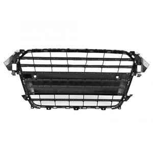 Image 4 - Voor S4 Stijl Auto Voorbumper Grille Grill voor Audi A4/S4 B8.5 2013 2014 2015 2016 ABS zwarte Auto Accessoires