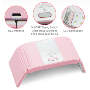 Image 4 - LKE Folded Nail Dryer 36W UV Lamp For LED Gel Portable Nail Lamp Arched Shaped Lamps for Nail Art Perfect Thumb Drying Solution