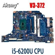 Akemy 15208-3 для Acer aspire V3-372 V3-372T P236-M P238 материнская плата портативного компьютера с I5-6200U 100% полностью протестирована