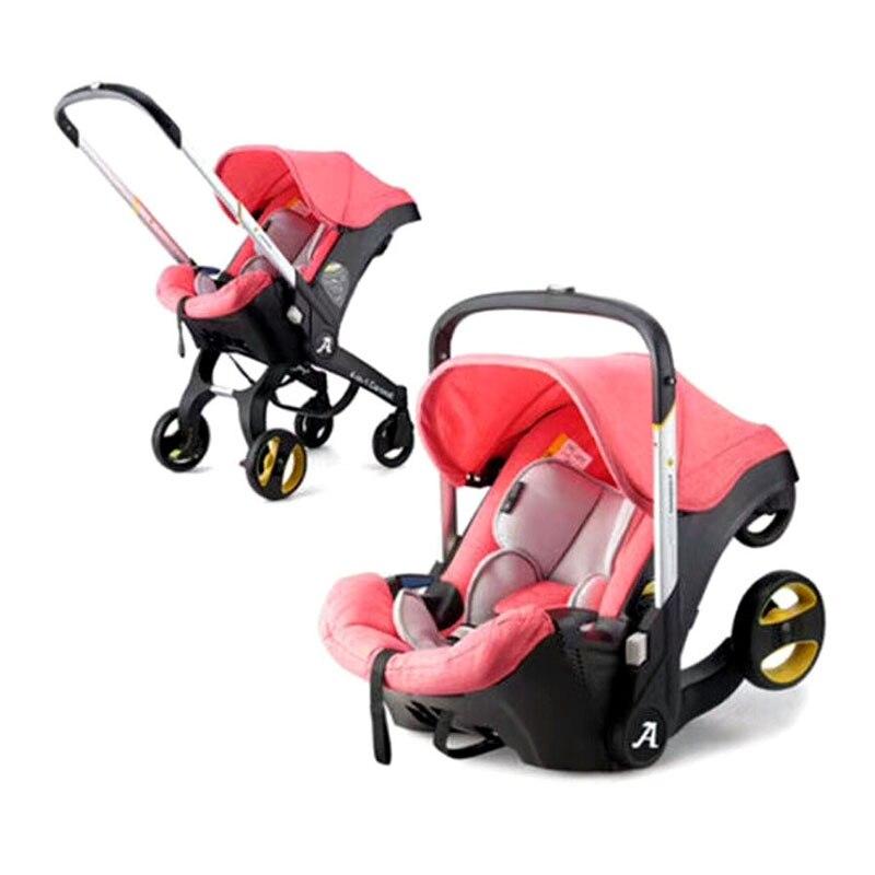 Бесплатная доставка 4 в 1 детская прогулочная коляска с автокреслом многофункциональная детская коляска с дождевиком
