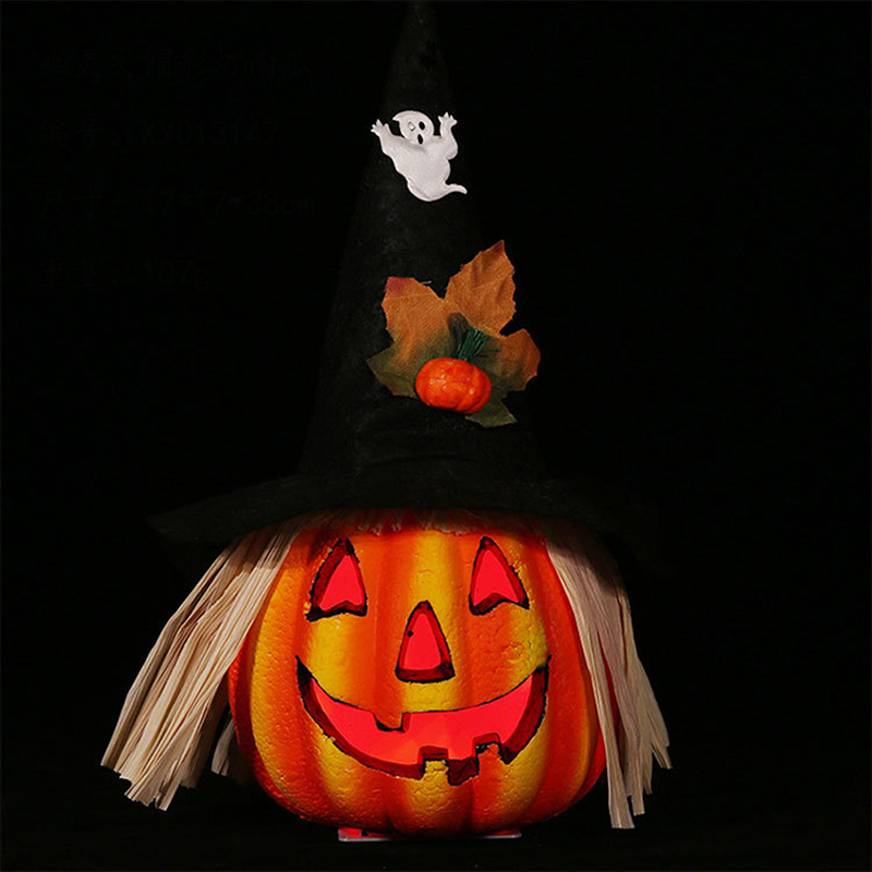 Delicate Glowing Purple Striped Hat Scarecrow Pumpkin Lamp Haunted House Pumpkin Lamp Halloween Party Haunted House Decoration Glow Party Supplies Aliexpress
