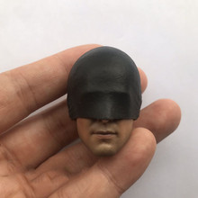 Head Sculpt Toys 1/6 Scale Ninja Head Carving Model With  mask Toys Collections Hobbies custom arnold schwarzenegger head sculpt 1 6 scale war damage edition t800 head carving model toys
