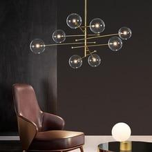 Retro MODE Bean Chandelier Modern Glass Ball Chandelier Lighting  Living Room/Bedroom/ Dinning Room Designer  Light FIxture