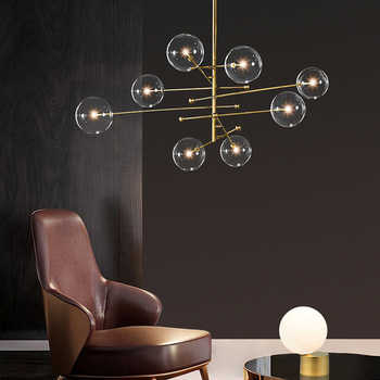 Retro MODE Bean Chandelier Modern Glass Ball Chandelier Lighting  Living Room/Bedroom/ Dinning Room Designer  Light FIxture - DISCOUNT ITEM  30% OFF All Category