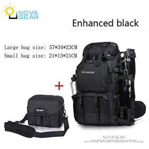 Image 4 - NOVAGEAR 80302 fotoğraf çantası kamera sırt çantası evrensel büyük kapasiteli seyahat kamera sırt çantası için Canon/Nikon dijital kamera