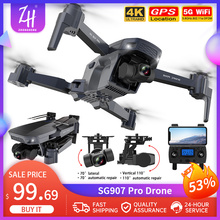 RC Drone Quadcopter Gimbal Profissional Sg907 Pro 2-Axis Wifi 5G FPV GPS 800m 4K Folding