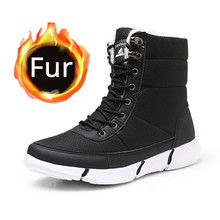 Winter Snow Boots Men Shoes with Fur Plush Warm for Men Waterproof Casual Women Non Slip Rubber Quality Ankle Boots Unisex snow boot for women flats with warm faux fur women snow boots plush female winter warm shoes snow boots flats with confortable