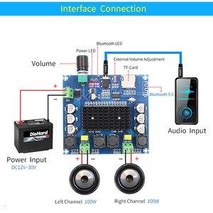 Image 4 - UNISIAN Bluetooth 5,0 TDA7498 Audio Power Verstärker bord 2x 100W Stereo Digital 2,0 kanal Amp Modul Unterstützung TF Karte AUX