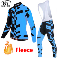 KIDITOKT cycling jersey pro team winter thermal fleece ropa ciclismo hombre cycling sets MTB Bicycle Clothing Bike Clothes Wear