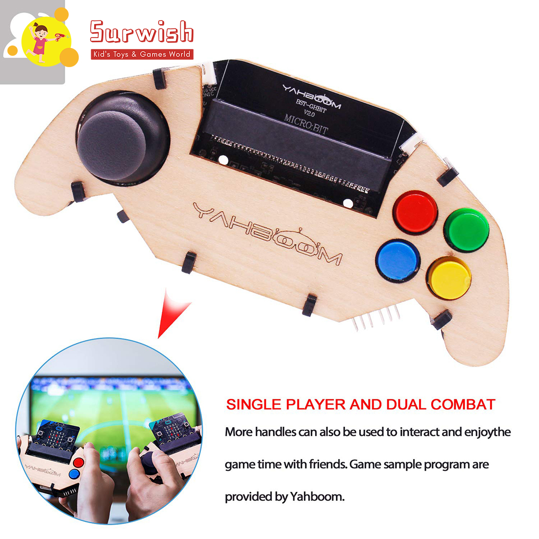 Micro:Bit Gamepad Expansion Board Handle Microbit Robot Car Joystick STEM Toys Programming Game Controller 2 Type