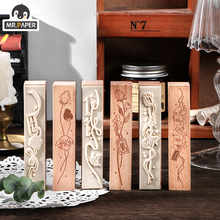 Wooden-Stamps Jungle Decoration Mr.paper 6-Designs Hand-Account Diy-Material Ins-Style