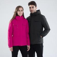 Men Women Winter New Outwear Multi-function Down Jacket Parkas Coat Men Waterproof Warm Hood Thick 2 Pieces Down Jacket Coat Men