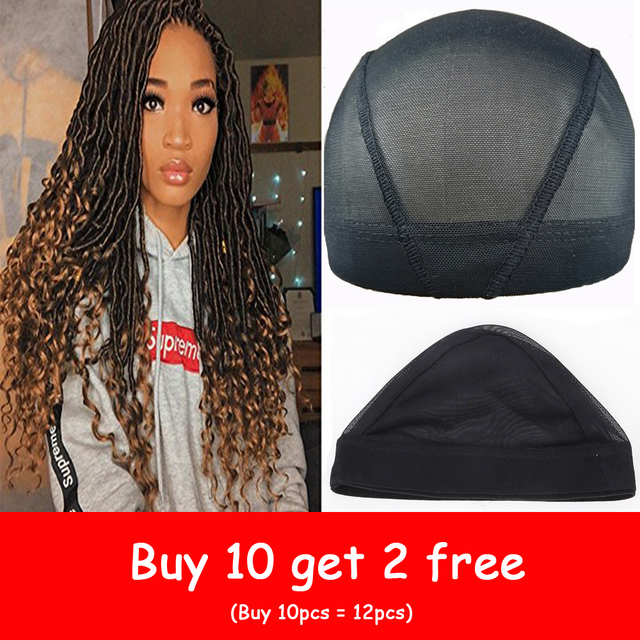 Spandex Mesh Dome Wig Cap Easier Sew In Hair Stretchable Weaving Cap Glueless Hair Net Wig Liner Cheap Wig Caps For Making Wigs