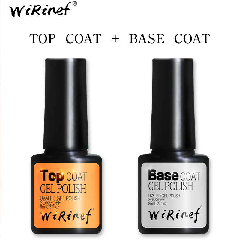 1 (PCS/Jual) top & Base Coat UV & LED Gel Nail Art Desain Manikur 8 Ml Rendam Off Enamel Gel UV gel Nail Polish Lacquer Varnish