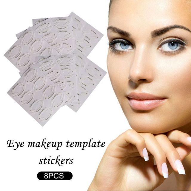 Professional Eye Makeup Fast Eyeliner Eye Shadow Makeup Drawing Liner Stencils Stickers Adhesive Tips Model Eye Makeup Tool