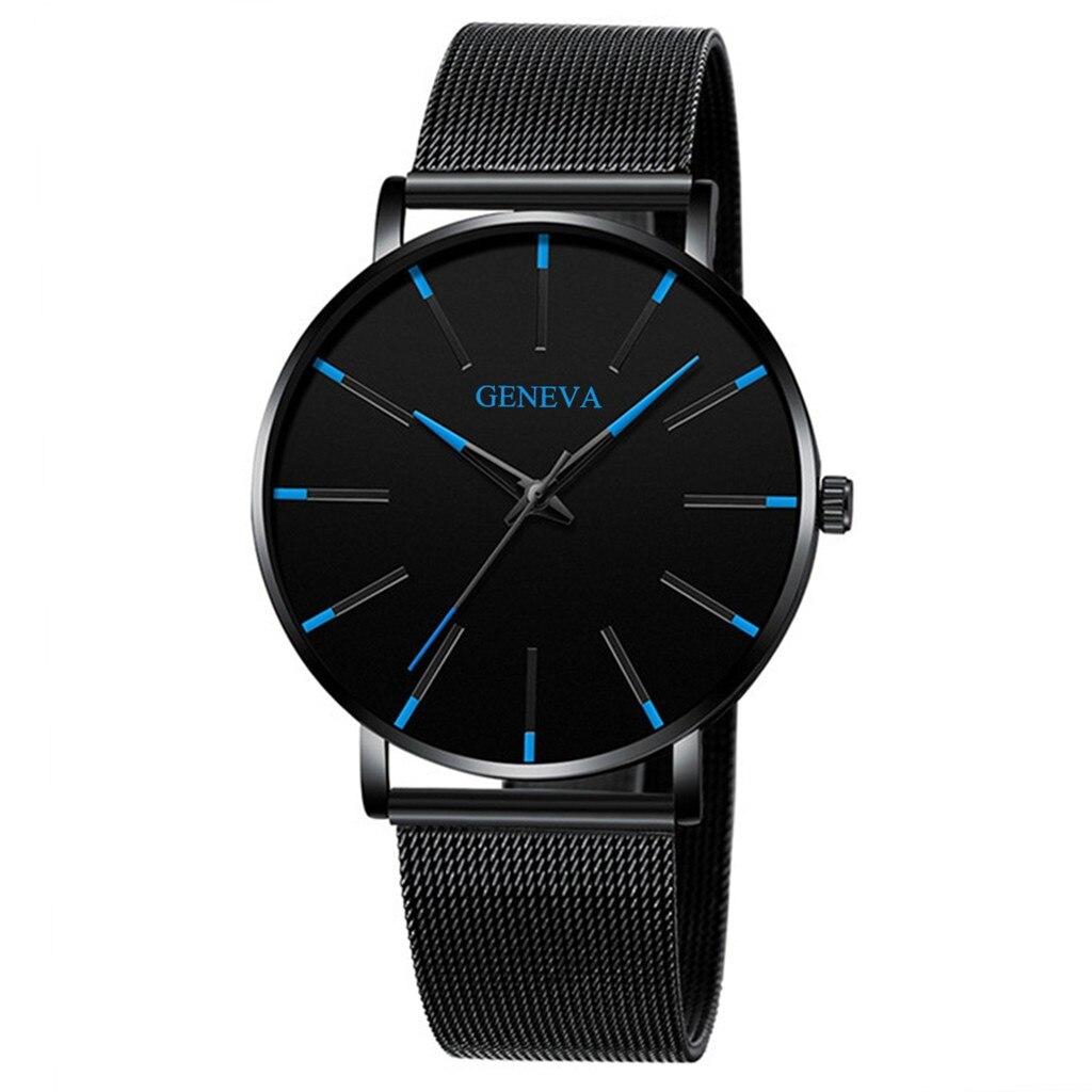 גברים יוקרה שעונים קוורץ שעון יד איש ספורט אנלוגי שעוני יד נירוסטה מקרית Bracele שעון פשוט למעלה מותג שעון