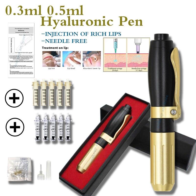 0.3/0.5ml Needle Free Hylaronic Pen Meso Injection Hyaluronan Acid For Lips Hialuron Pen Dermal Filler Hyaluron Pen Hialuronico
