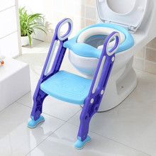 Folding Baby Potty Seat Toilet Training Chair With Adjustable Step Stool Ladder Non-slip Foot Pad Safe Urinal Potties HWC