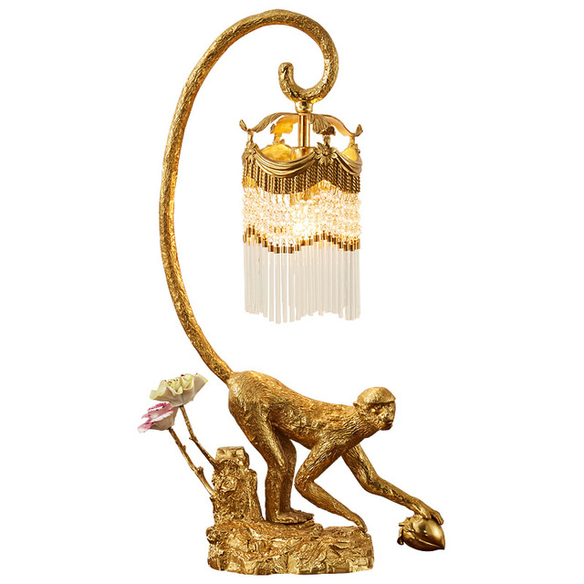 Golden Monkey Table Lamp