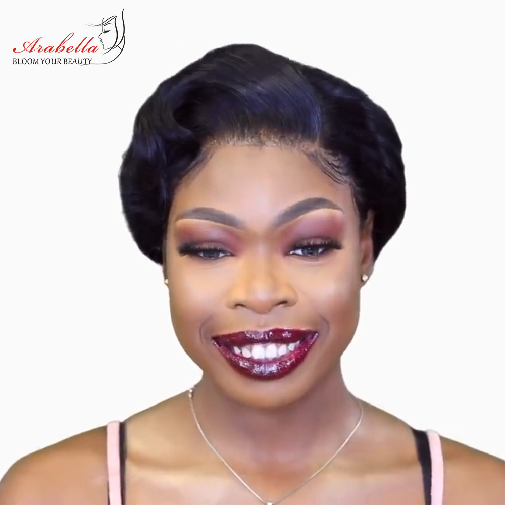 13x4 Pixie Cut Bob Wig Straight  Hair Lace Front Wig With Baby Hair Arabella Pre Plucked Lace Front Bob Wig 1