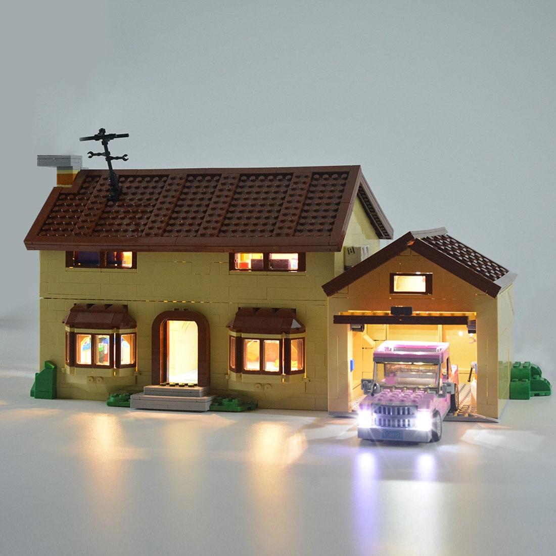 modiker pequenas particulas brinquedo led bloco de construcao usb luz acessorio kit para casa 71006 led