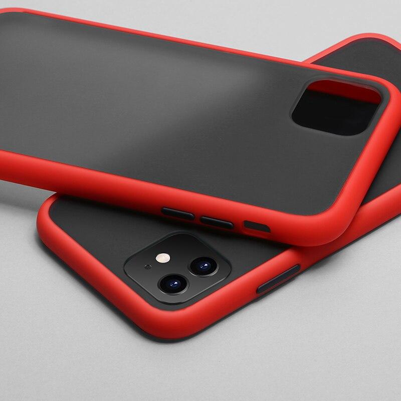 N1986N чехол для телефона для iPhone 11 Pro X XR XS Max 7 8 Plus роскошный контрастный цвет рамка Матовый Жесткий PC защитный чехол для iPhone 11 чехол - Цвет: Red