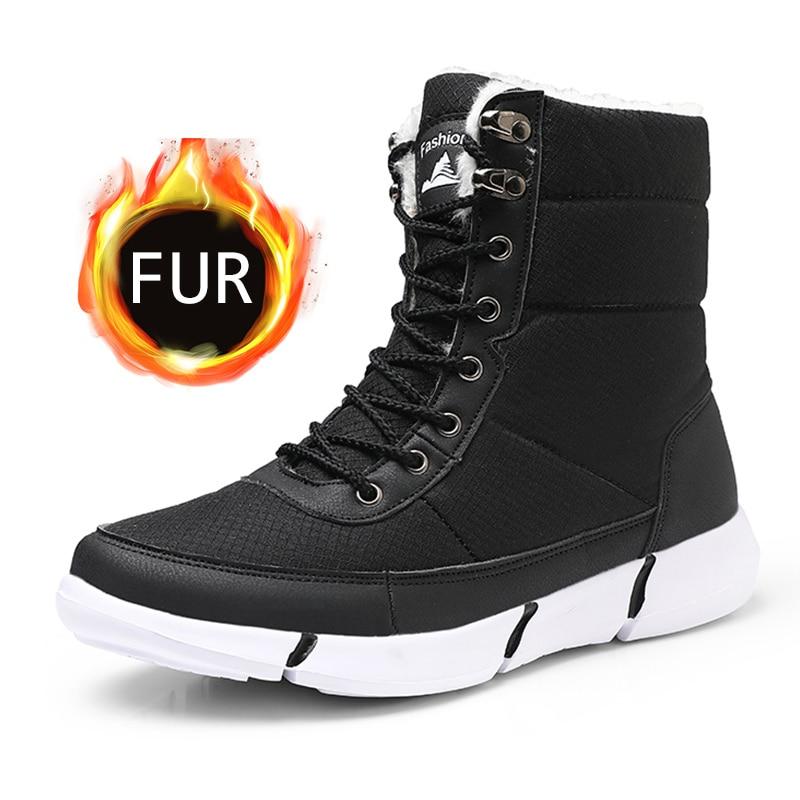 Men Boots Winter Shoes Men Waterproof Snow Boots With Warm Fur Winter Sneakers Casual Women Mid-Calf Botas Hombre Unisex