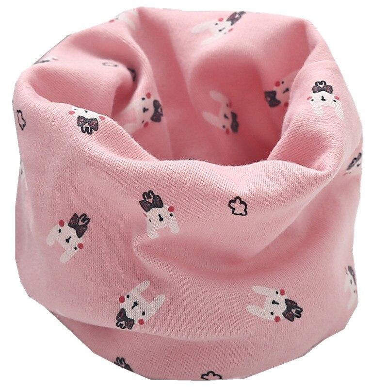 Новинка; сезон осень-зима; шарф из хлопка для девочек; Детский шарф; нагрудный шарф для мальчиков и девочек с круглым кольцом; милый детский шарф с воротником; Bufandas - Цвет: pink rabbit