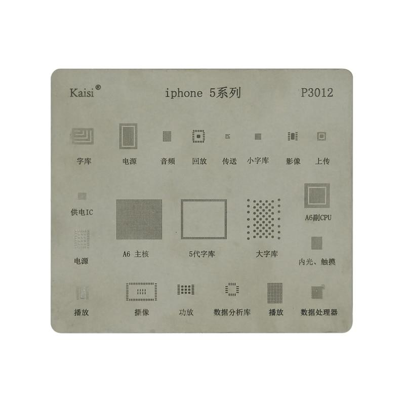 BGA Motherboard IC Chip Reballing Stencils Stencil Dedicate Kit For IPhone5 5s 6 6S 7 8 X  XS XR XS MAX