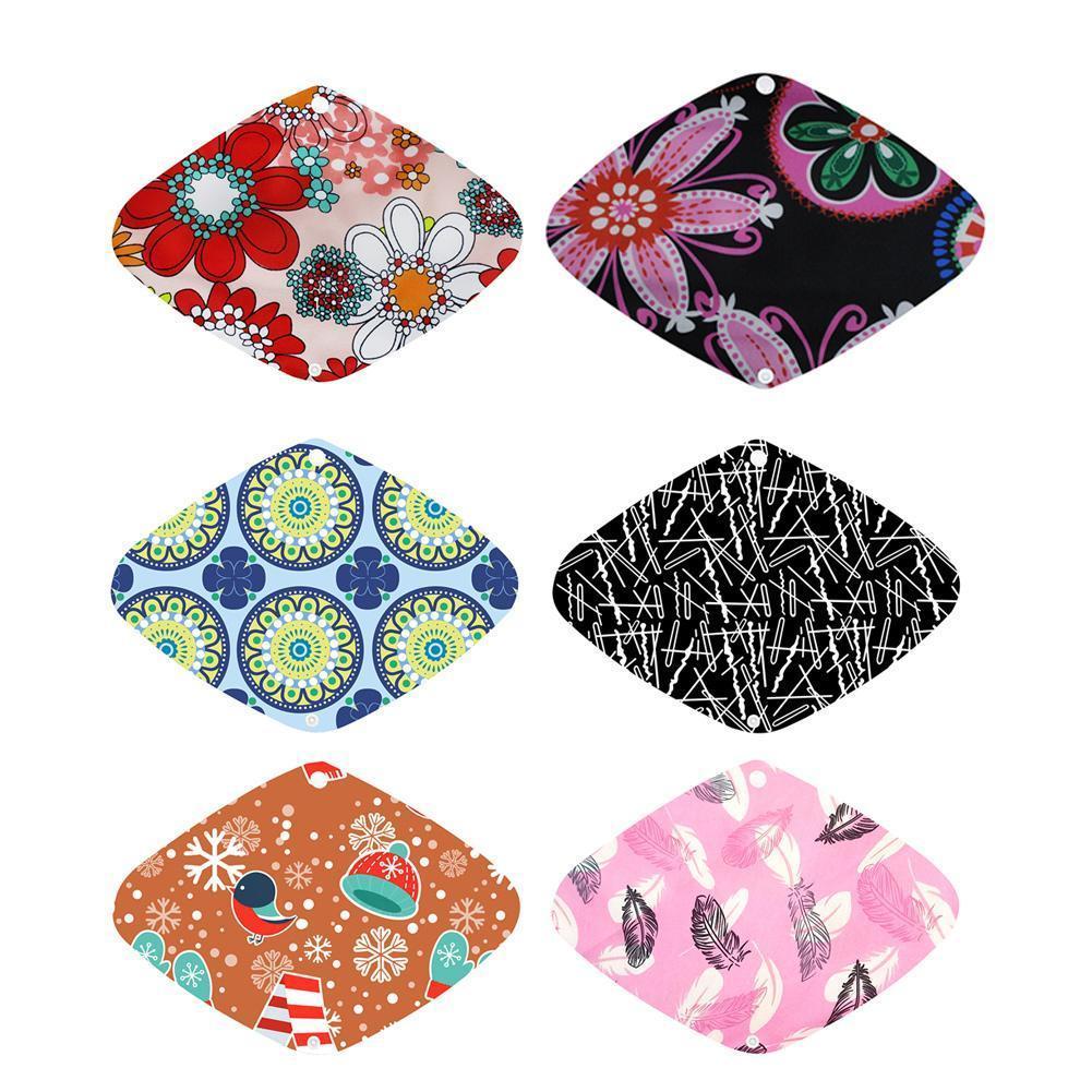 Random Color 1PC Washable Reusable Sanitary Towel Sanitary For Female Napkin Pad Menstrual Z2I7