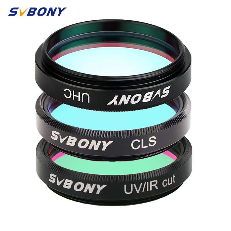 SVBONY 1.25'' UHC + UV-IR+CLS 3 Pcs Elimination Of Light Pollution Filters For Astronomy Telescope Eyepiece Observations Of Deep