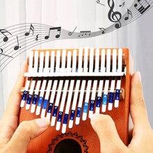 17 teclas Piano de pulgar Kalimba de Mbira cuerpo instrumentos musicales Sanza Likembe África dedo Piano principiante Piano vertical