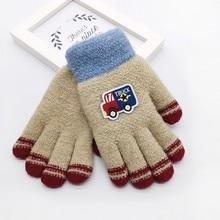 Детские зимние теплые рукавицы с милым рисунком для мальчиков и девочек, детские перчатки, теплые зимние перчатки