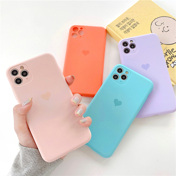 Solid Color Silicone Couples Cases For iphone XR XS Max 8 Plus 11 11Pro Max Cute Candy Color Soft Simple Fashion Phone Case NEW tanie i dobre opinie ciaxy Pokrowiec Anti-knock Apple iphone ów Iphone 6 Iphone 6 plus IPHONE 6S Iphone 6 s plus IPhone 7 IPhone 7 Plus IPHONE 8 PLUS