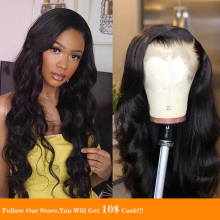 Jet Black 13x4 Silk Top Lace Front Wigs Long Water Wave Peruvian Human Hair Soft Pre-plucked With Baby For Women